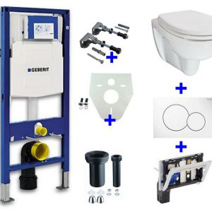 Geberit UP-320 + toiletblokhouder + Trevi O.P. + Sigma 01 wit