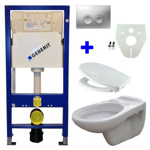 Geberit UP 100 + Neptunus WC +Ultimo zitt + Delta 21 matchr