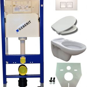 Geberit UP 100 +Neptunus WC+ Ultimo zitt.+ Delta 50 wit