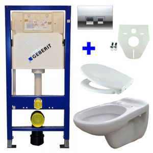 Geberit UP 100 + Neptunus WC +Ultimo zitt + Delta 50 gl.chr
