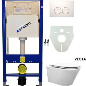 Geberit UP 100 Vesta wc+ Flatline zitt.+ Delta 21 wit